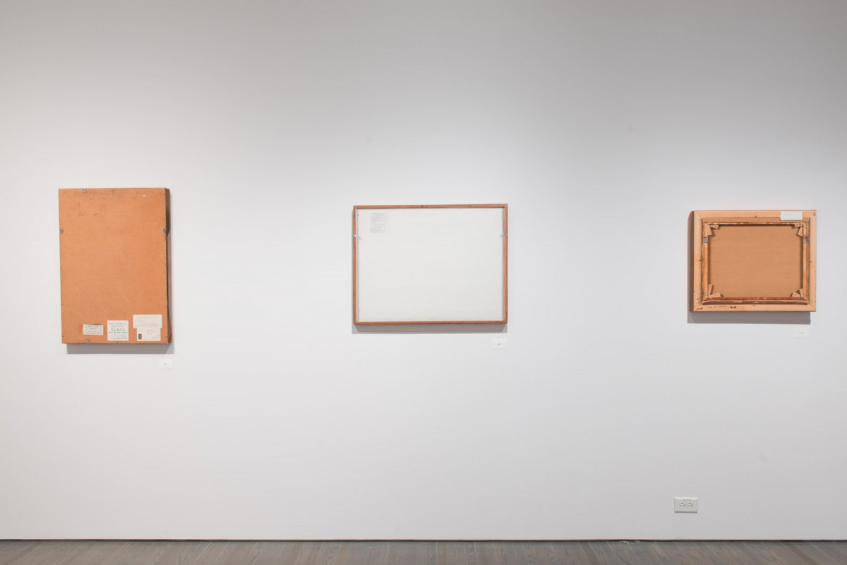 B-side - Ellen Gallery, 2015 –  													Installation view of works selected by location in collection - single rack