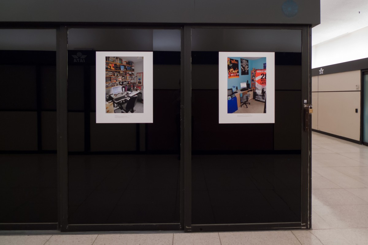 """Family Workstations"" from <i>Family Workstations</i>, 2007 –  										 – Installation view, Art Souterrain, 2013"