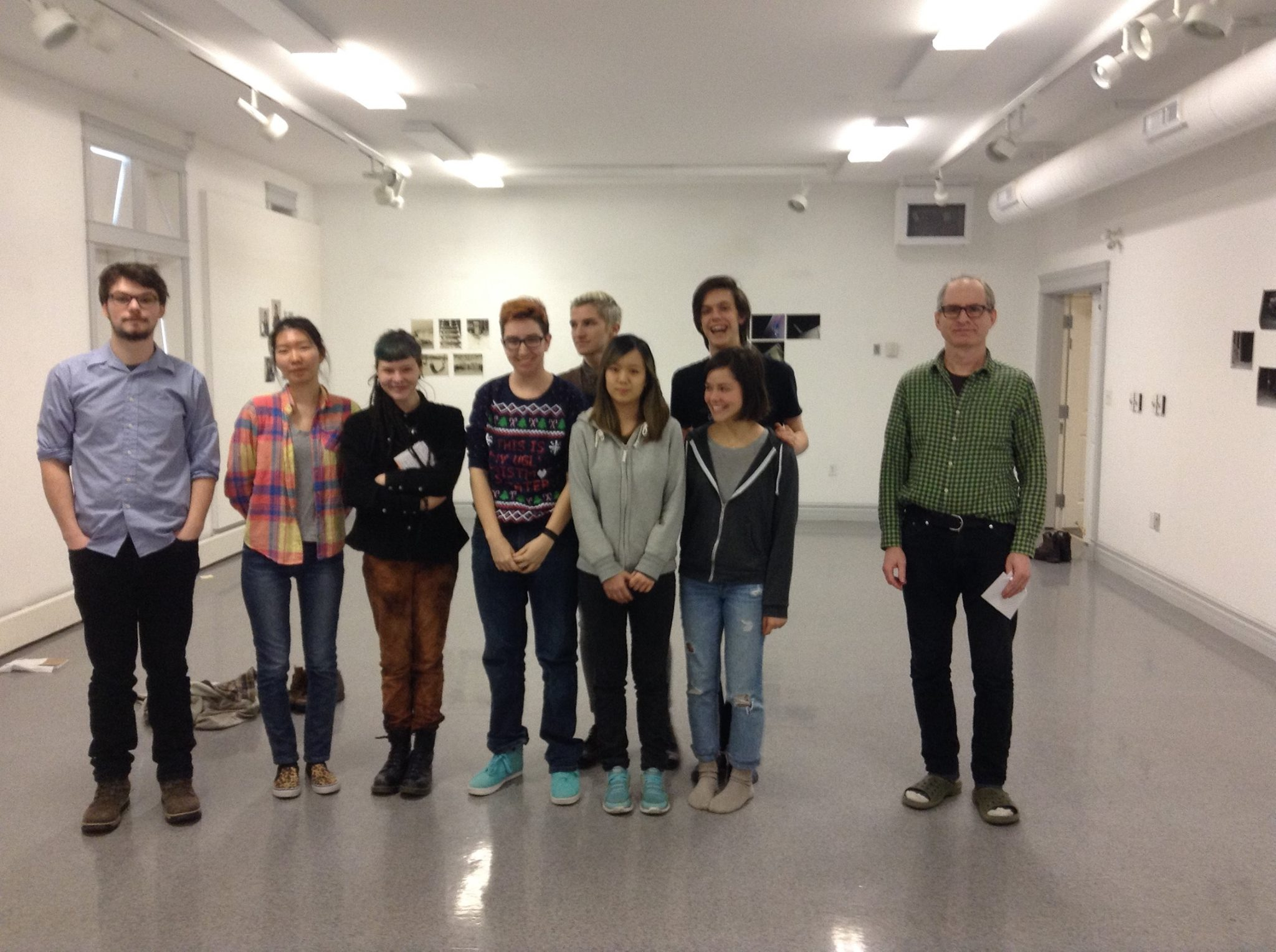 Paul Litherland and students of the Yukon School of Visual Art, February 2016