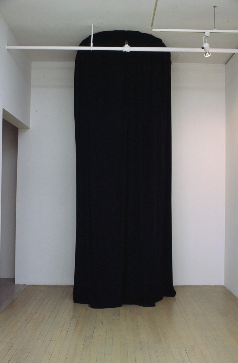 Éole, 2002 –  													Eole installed at Galerie Optica, with the curtains closed as it would have been seen by the viewer