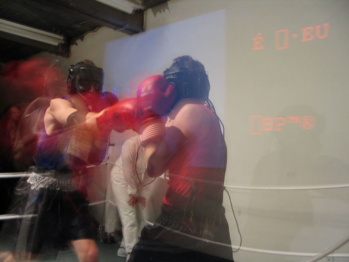 ASCII Fighter (BOX), 2004 –  													Poetry Fighter section of BOX performed at Le Locale, Montreal, 2004