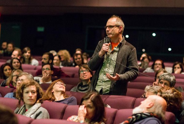 Paul Litherland asking question at RIDM screening, 2013