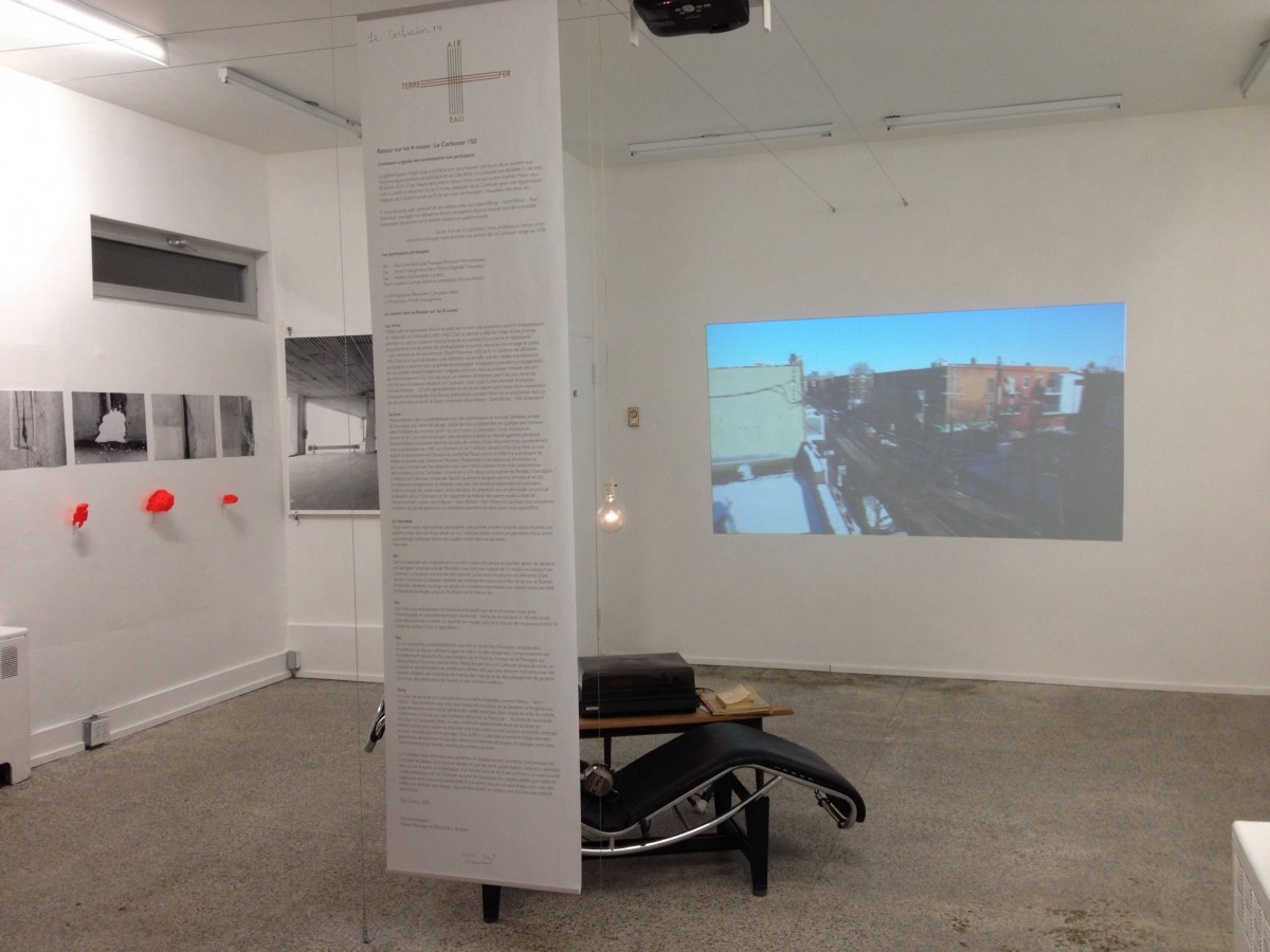Air : le regard du vent, 2015 –  													Presentation of video at Espace Projet