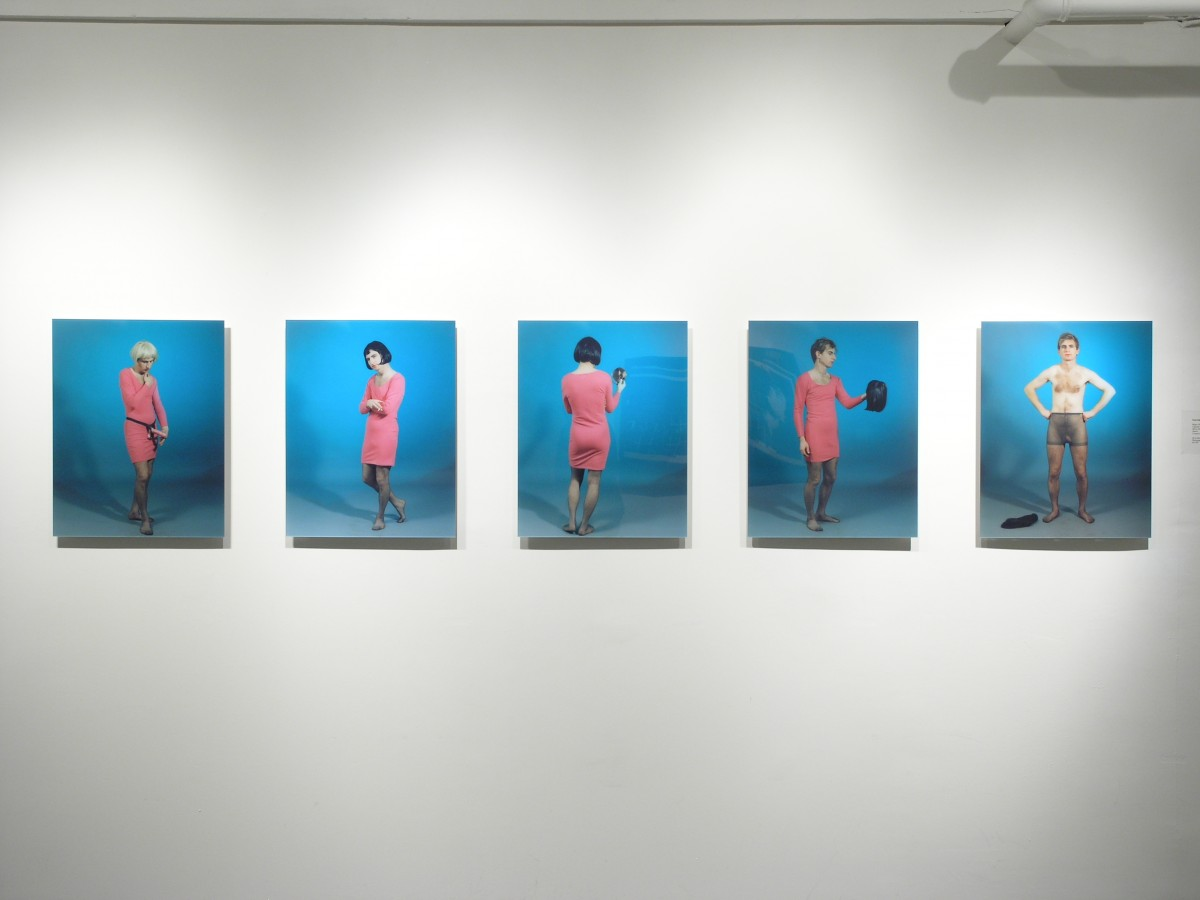 """Absolutely Fabulous"" from <i></i>, 2006 –  										 – Installation view Blue Background series, Galerie Thérèse Dion"