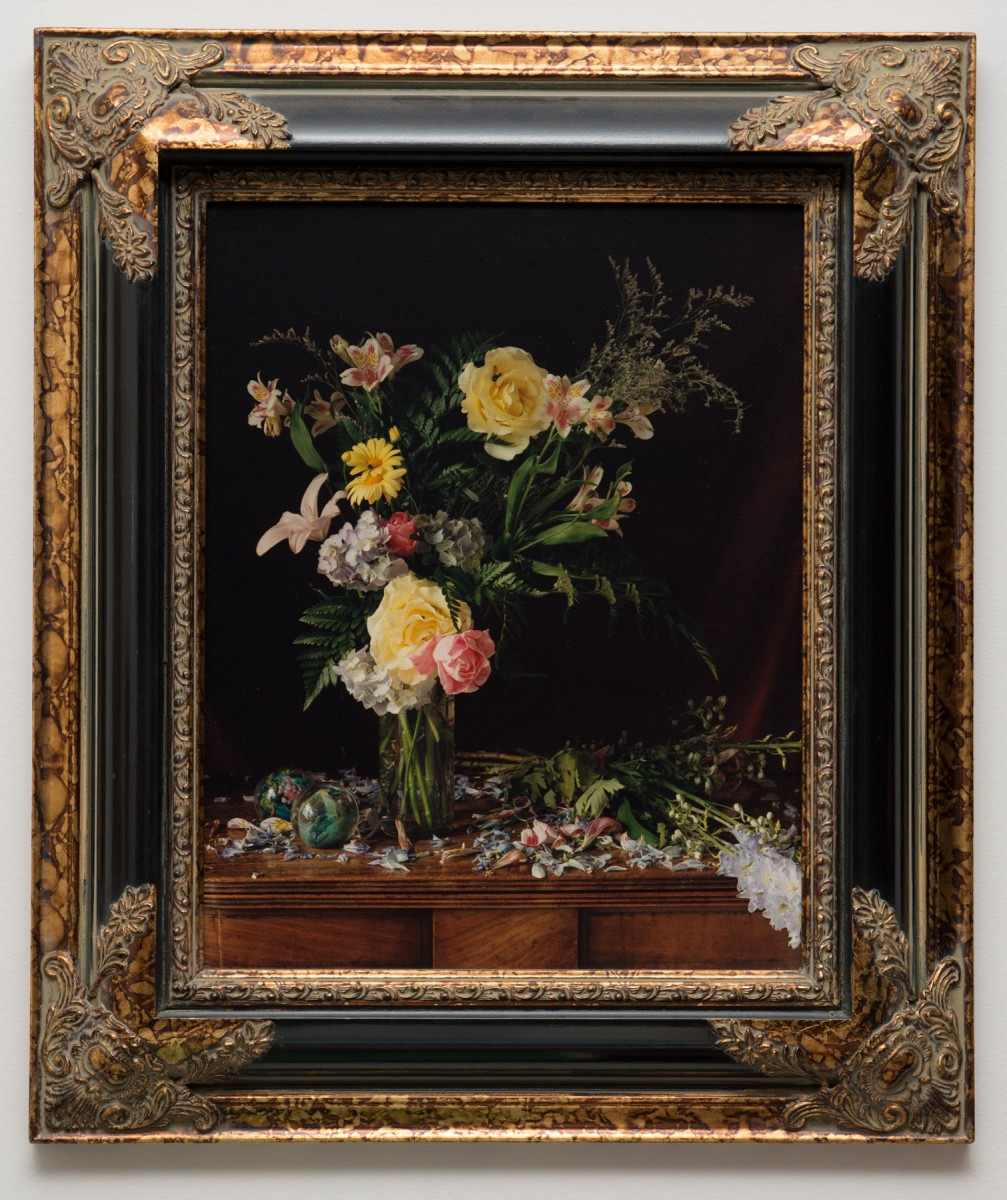 <i>Bouquet</i> – Paul Litherland and Audrey Litherland collaboration, after Rachel Ruysch											, 2000 <span class='photo-credit'> – Photo: <a href='' target='_blank'>Paul Litherland</a></span>											<a href=' https://paullitherland.com/artsite_wp/wp-content/uploads/Paul_Litherland1998AudreyLitherland-001-1007x1200.jpg' target='_blank'><img src='https://paullitherland.com/artsite_wp/wp-content/themes/artpress-child/img/artworkDownloadImg.png' title='télécharger image / download image' /></a>  																						<!-- <a href='' target='_blank'>  											<img src='/img/artworkPermalinkIcon.png' title='permalink to photo' /></a> -->
